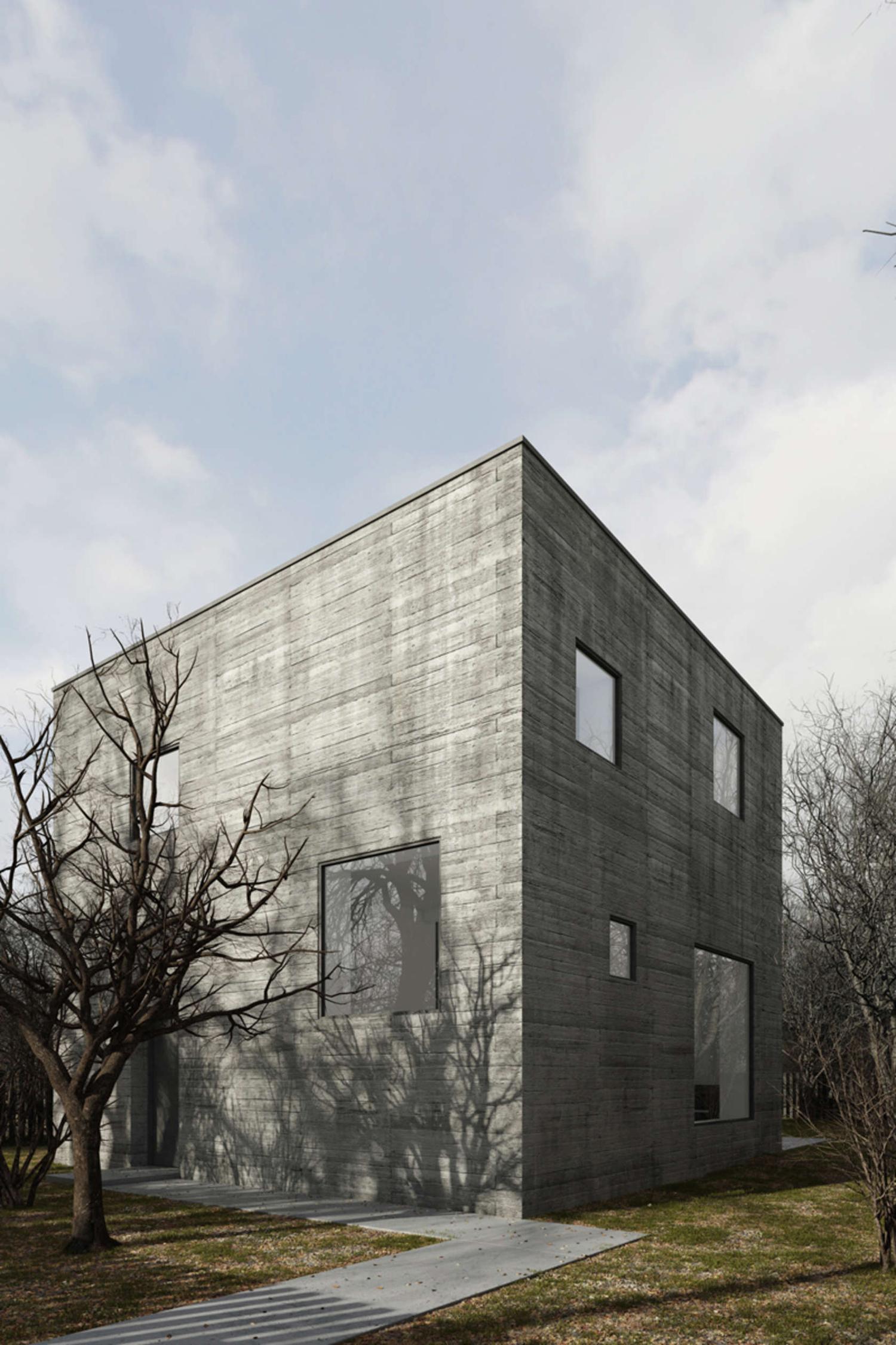 Dom kostka, proj. TEŻ Architekci, Poznań (źródło: materiały prasowe projektantów)
