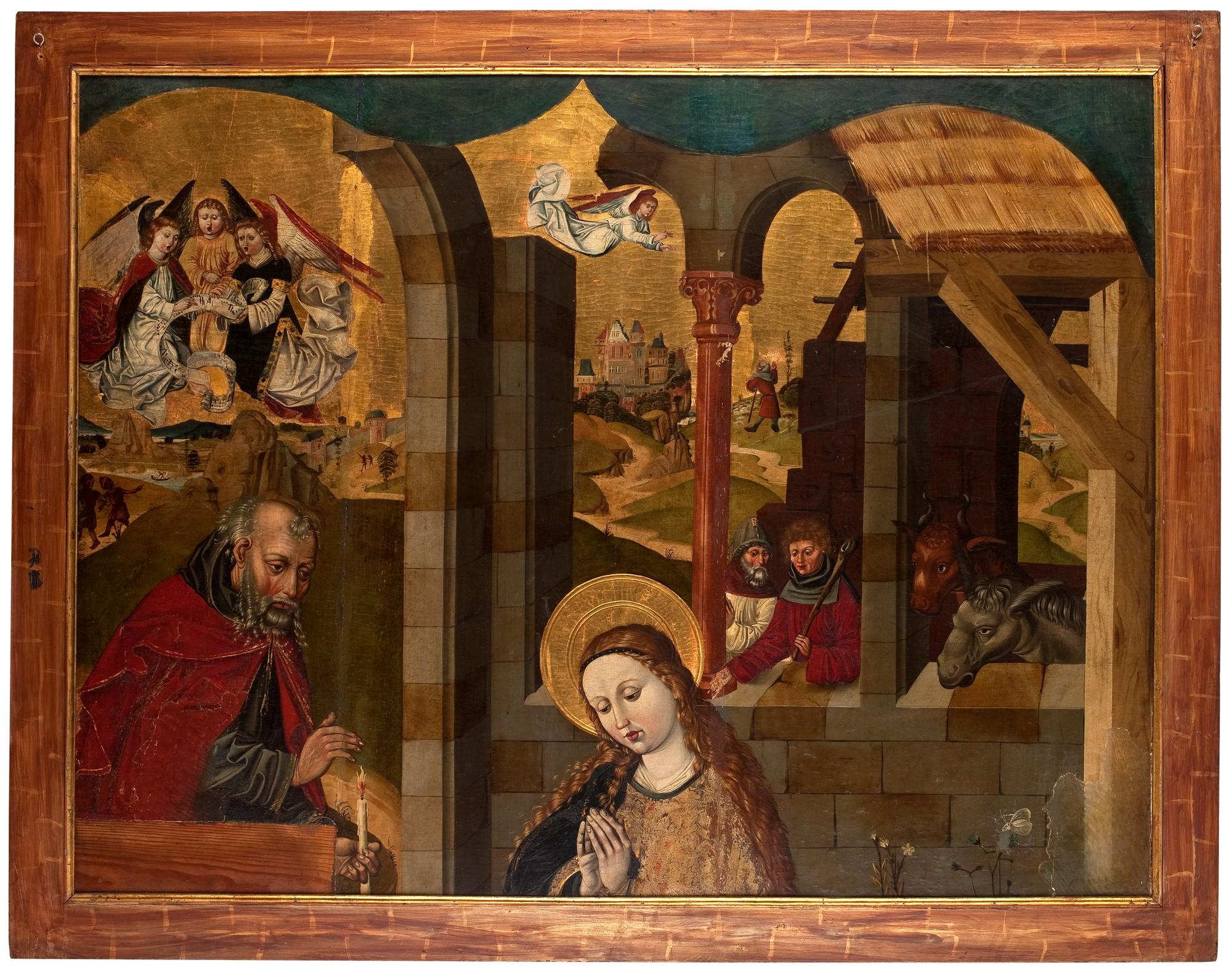 """Mistrz Lat 1486-1487, """"Adoracja Dzieciątka"""", fragment, 1487 r., Muzeum Narodowe we Wrocławiu (źródło: materiały prasowe organizatorów)"""