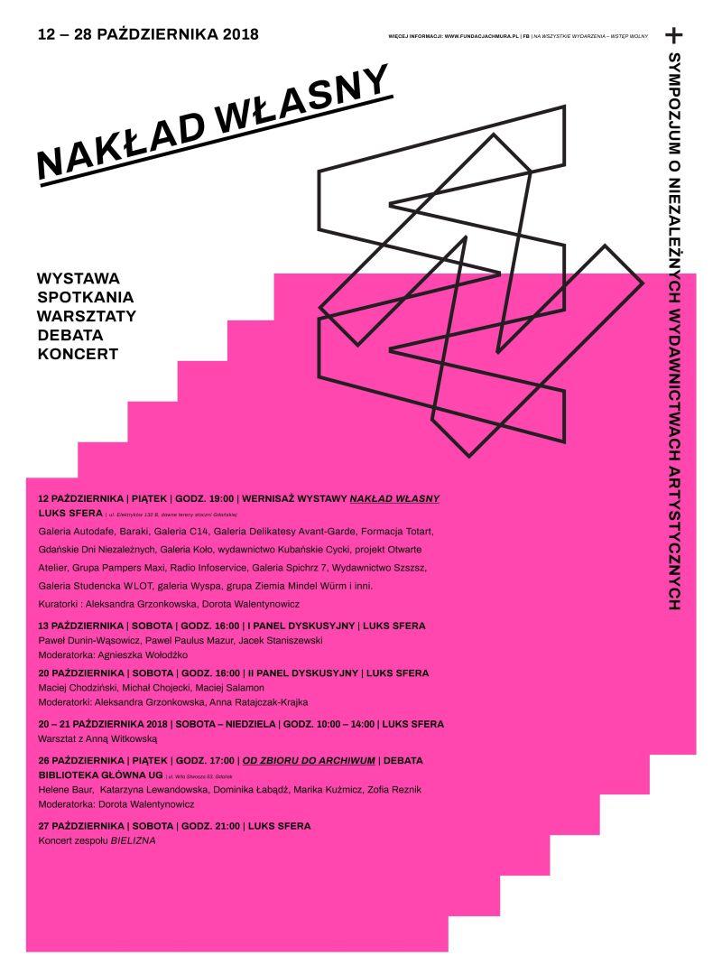 Nakład własny. Sympozjum o niezależnych wydawnictwach artystycznych (źródło: materiały prasowe organizatora)