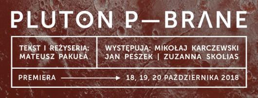 """Pluton p-brane"", reż. Mateusz Pakuła (źródło: materiały prasowe teatru)"