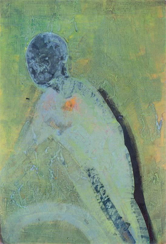 """Sabine Herrmann, """"Pozostawienie siebie"""", 1996, pigmenty, mieszane media na papierze czerpanym, Foto: Uwe Walter, Berlin, © VG Bild-Kunst, Bonn 2018 (źródło: materiały prasowe organizatora)"""