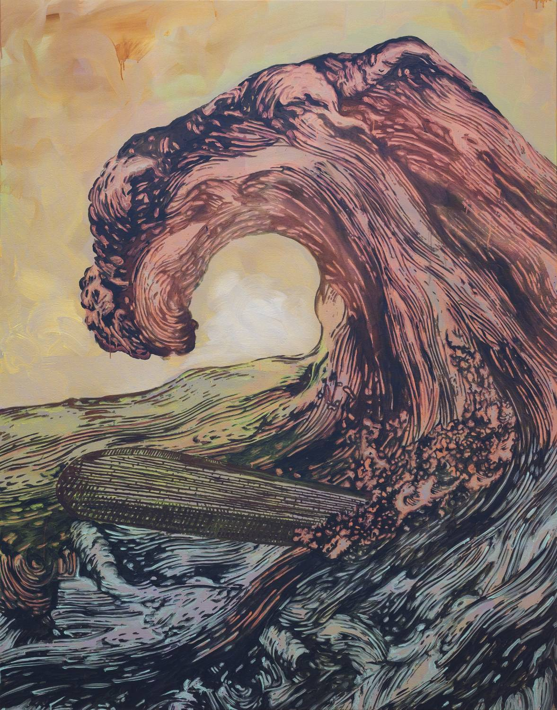 "Hans Weigand , ""Wave of pain"", 2015, photo: Iris Ranzinger, courtesy of Gabriele Senn Galerie, Vienna (źródło: materiały prasowe organizatora)"