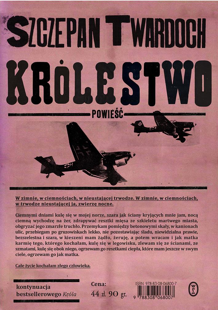 """Szczepan Twardoch, """"Królestwo"""" (źródło: materiały prasowe wydawnictwa)"""