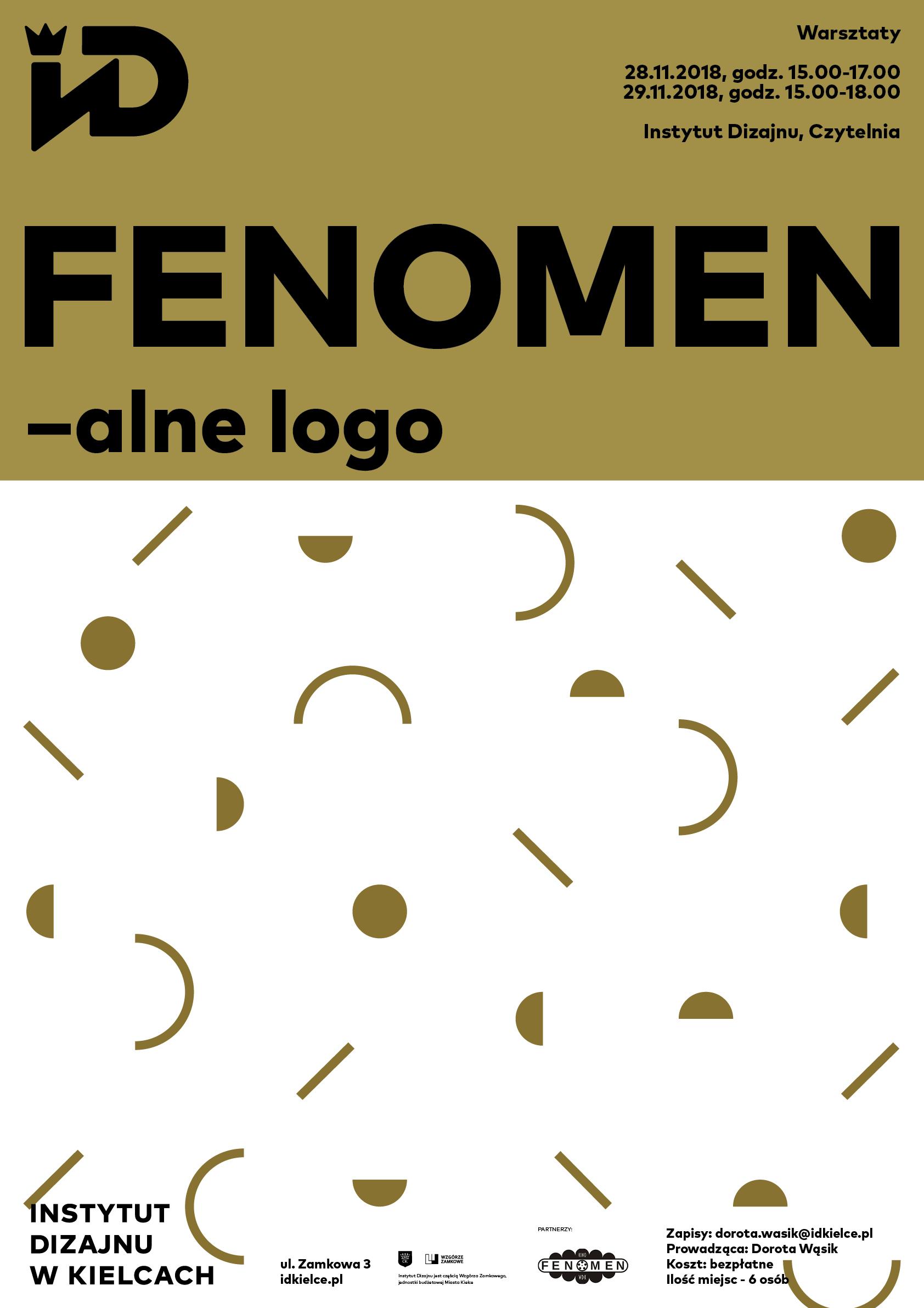 """Warsztaty""""FENOMENale logo"""" Instytut Dizajnu (źródło: materiały prasowe organizatora)"""