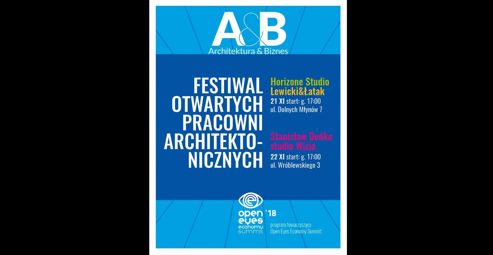 """""""Festiwal Otwarte Pracownie Architektoniczne"""", Architektura i Biznes (źródło: materiały prasowe organizatorów)"""