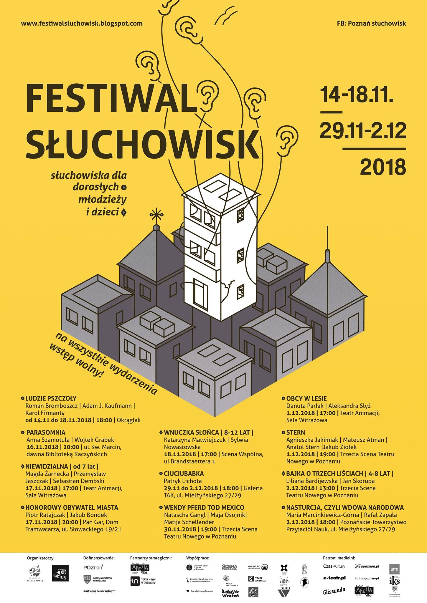 Festiwal Słuchowisk 2018. (źródło: materiały prasowe organizatora)
