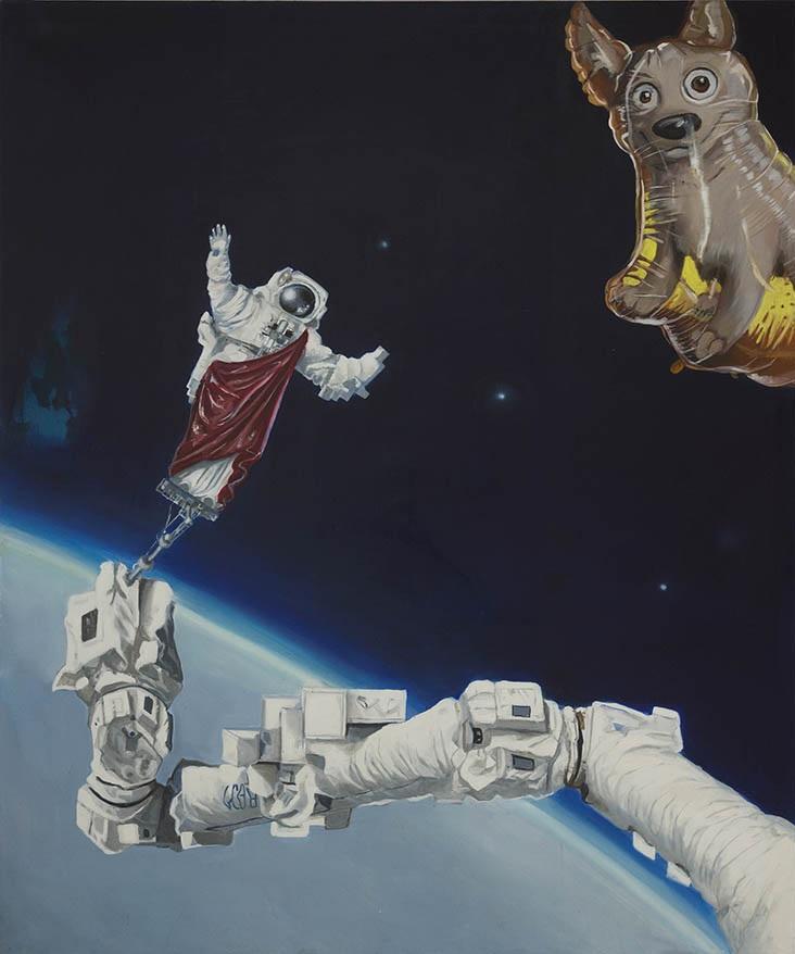 """Curyło Julia, """"Laika w kosmosie"""", 2016, fot. Adam Gut (źródło: materiały prasowe organizatora)"""