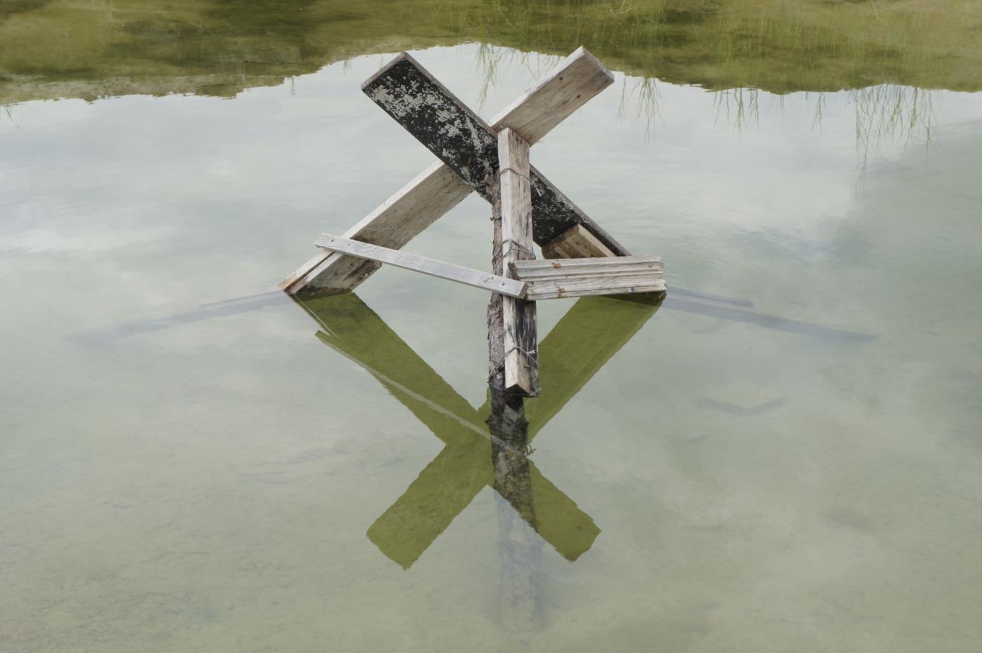 """Marian Stępak, """"Odbicie, mały zbiornik wodny nad jeziorem Jasnisko"""", Ukraina, fotografia, 2018 (źródło: materiały prasowe organizatora)"""