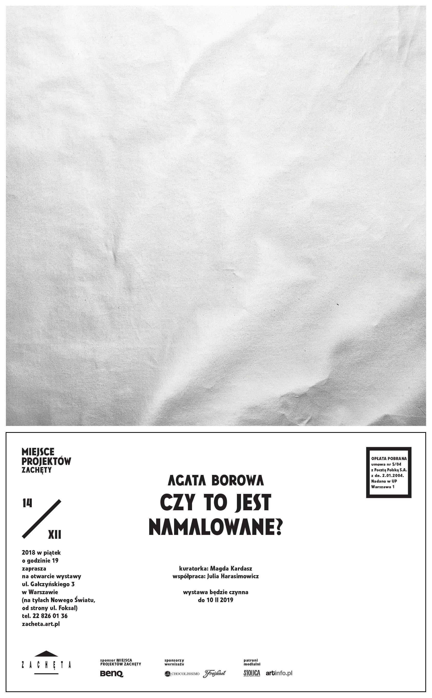 """Agata Borowa – """"Czy to jest namalowane?"""" (źródło: materiały prasowe organizatora)"""