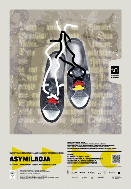 """""""Asymilacja"""", reż. Piotr Kruszczyński, Teatr Nowy w Poznaniu (źródło: materiały prasowe organizatora)"""