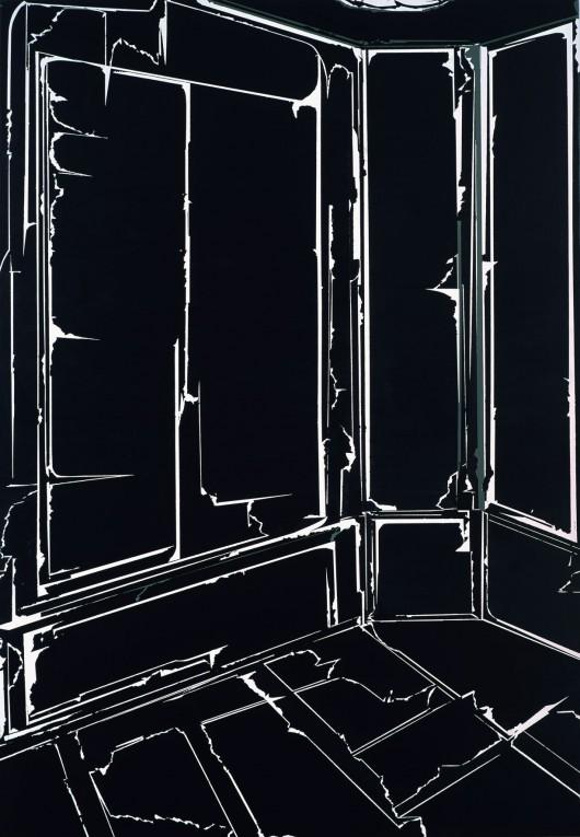 Anna Kołodziejczyk - Siła pozornie prostego wnętrza, 160x110, akryl na płótnie, 2016 (źródło: materiały prasowe)