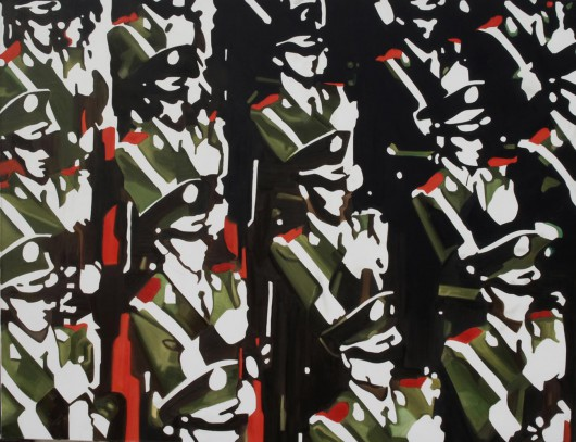 Erwin Wyjadłowski, bez tytułu 140x180 cm, olej na płótnie, 2014 (źródło: materiały prasowe organizatora)