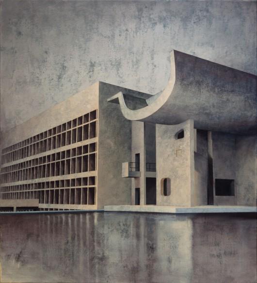 Joanna Pałys – Element Modernistyczny – Kadr 29, akryl na płótnie, 110x100cm, 2017 (źródło: materiały prasowe)