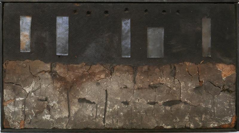 Bez tytułu, technika własna, 18.5 x 34 cm, pocz. lat 60., sygn. (źródło: materiały prasowe)