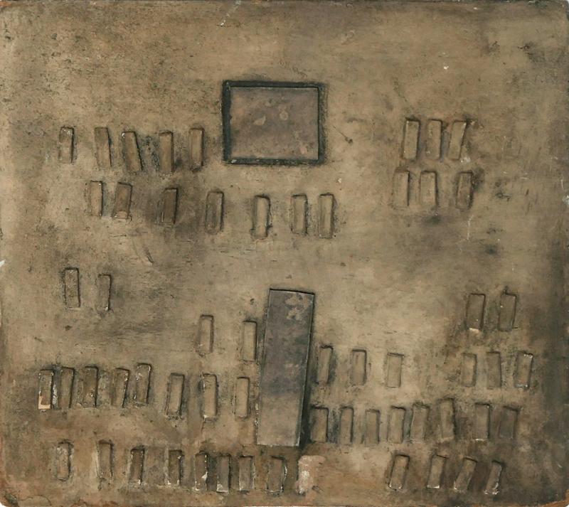 Bez tytułu, technika własna, 28 x 31.5 cm, 1 poł. lat 60., niesygn. (źródło: materiały prasowe)