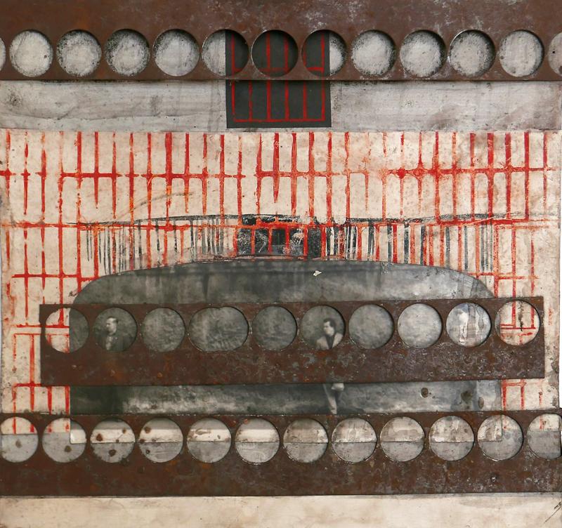 Bez tytułu, technika własna, 28.5 x 30 cm, poł. lat 60., niesygn. (źródło: materiały prasowe)