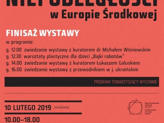 Plakat finisażu wystawy w MCK Kraków (źródło: materiały prasowe organizatora)