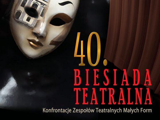 Plakat 40. Biesiady Teatralnej (źródło: materiały prasowe organizatora)