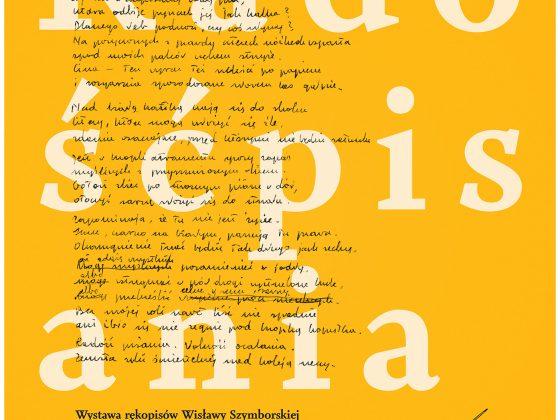 """Wystawa rękopisów Wisławy Szymborskiej """"Radość pisania"""" (źródło: materiały prasowe)"""