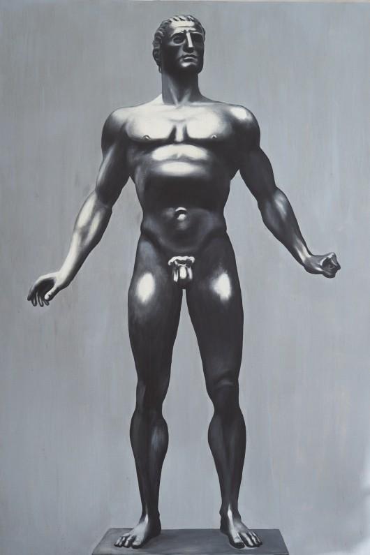 Karol Radziszewski, Dionysos, 2010/2014, akryl na płótnie, fot.© Andrzej Leszczyński / Muzeum Narodowe w Gdańsku (źródło: materiały prasowe)
