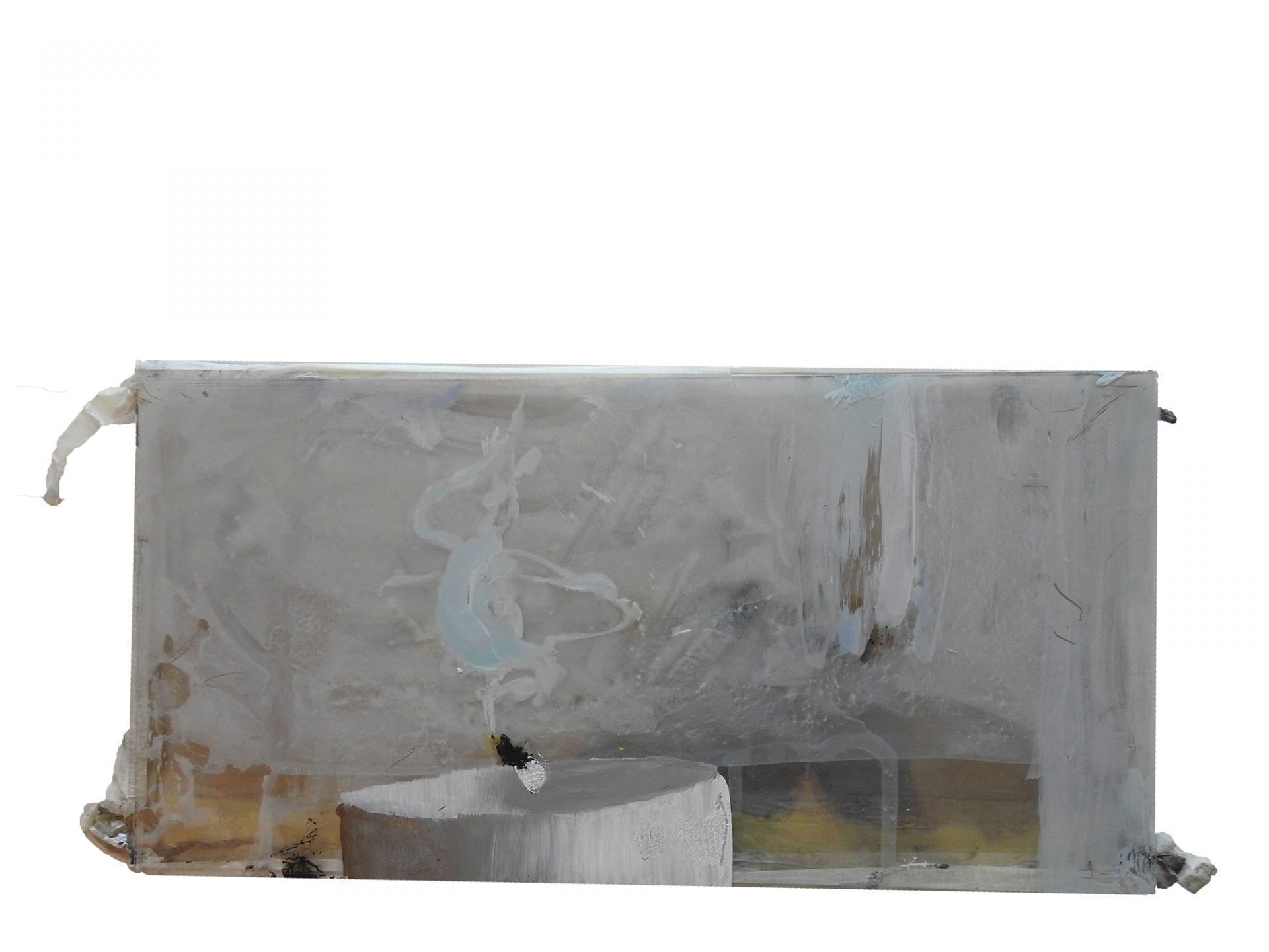 Dariusz Mlącki, Świeca, 2017, akryl na pleksi, 30 × 15 cm (źródło: materiały prasowe)