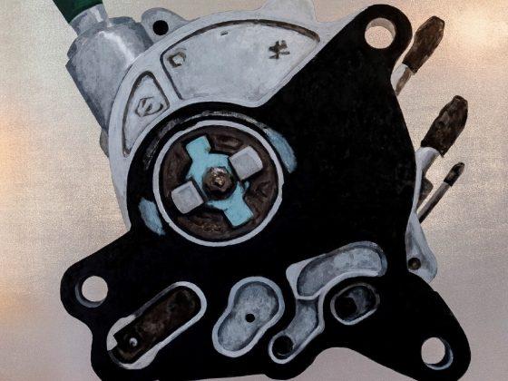 Jarosław Potoczny, Heart of Luxus, acryl on lycra, 176 × 197 cm (źródło: materiały prasowe)
