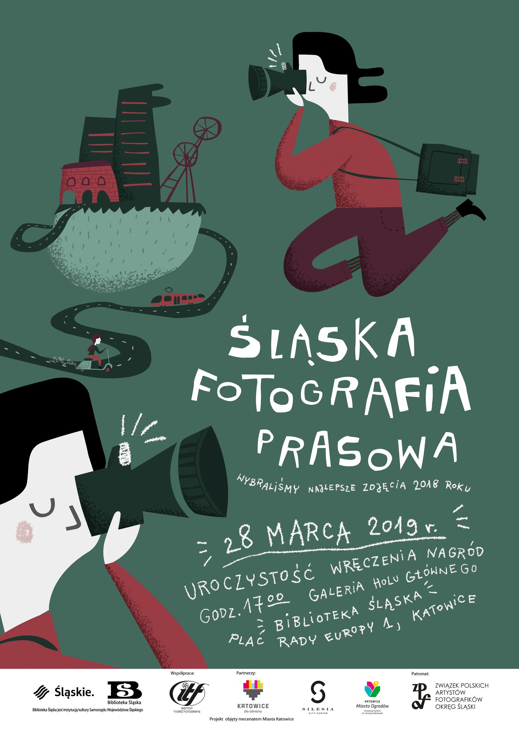 Plakat konkursu Śląska Fotografia Prasowa (źródło: materiały prasowe)
