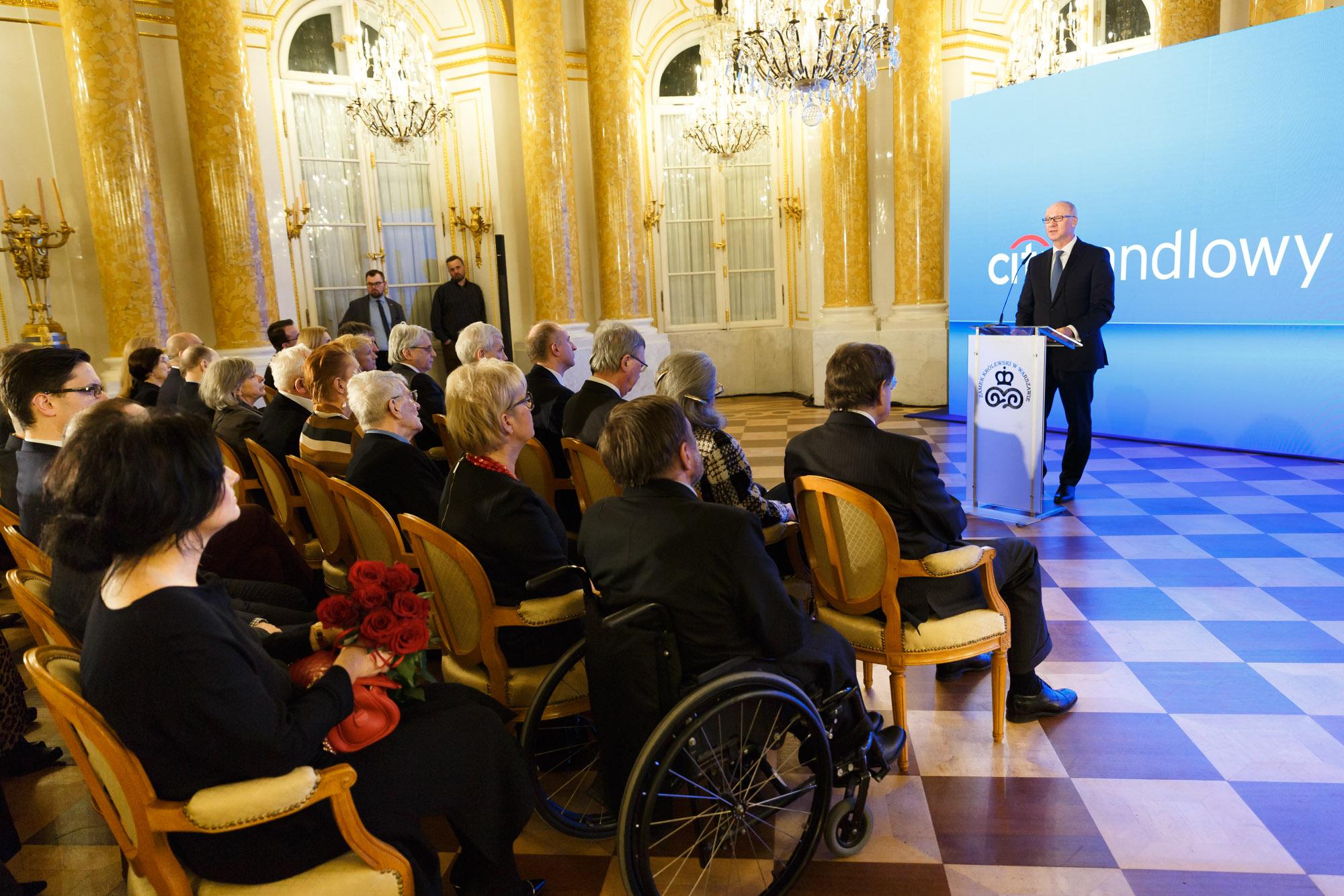 XX Gala Nagrody Gieysztora - na zdjęciu Sławomir S. Sikora (źródło: materiały prasowe)