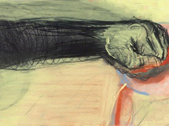 Miriam Cahn, o.T. 10.05.2012, 2012, pastel i węgiel na papierze, 39 × 23 cm (źródło: materiały prasowe)