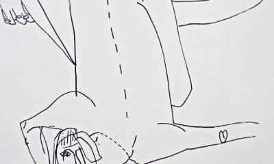 Joanna Adamusiak , Frau Miau, 2018, serigrafia, 29 × 22,5 cm (źródło: materiały prasowe)