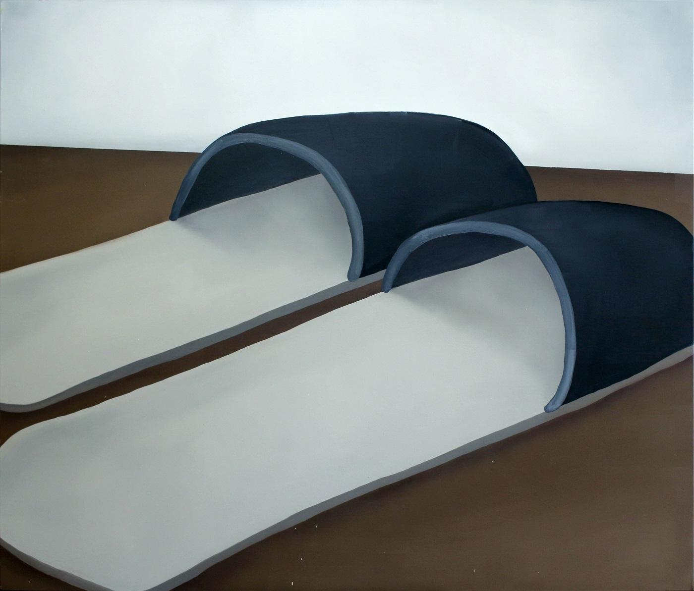 Tomasz Kręcicki, Klapki, 125×145 cm, olej na płótnie, 2018 (źródło: materiały prasowe)