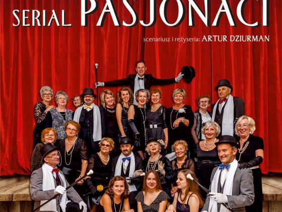 """Plakat serialu """"Pasjonaci"""" w reż. Artura Dziurmana (źródło: materiały prasowe)"""