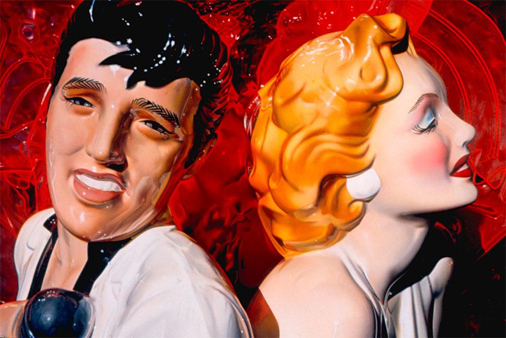 David Parrish (ur. 1939 w Birmingham, Alabama). Elwis i Marilyn, 1996. Olej, płótno, 73,7 x 110,5 cm