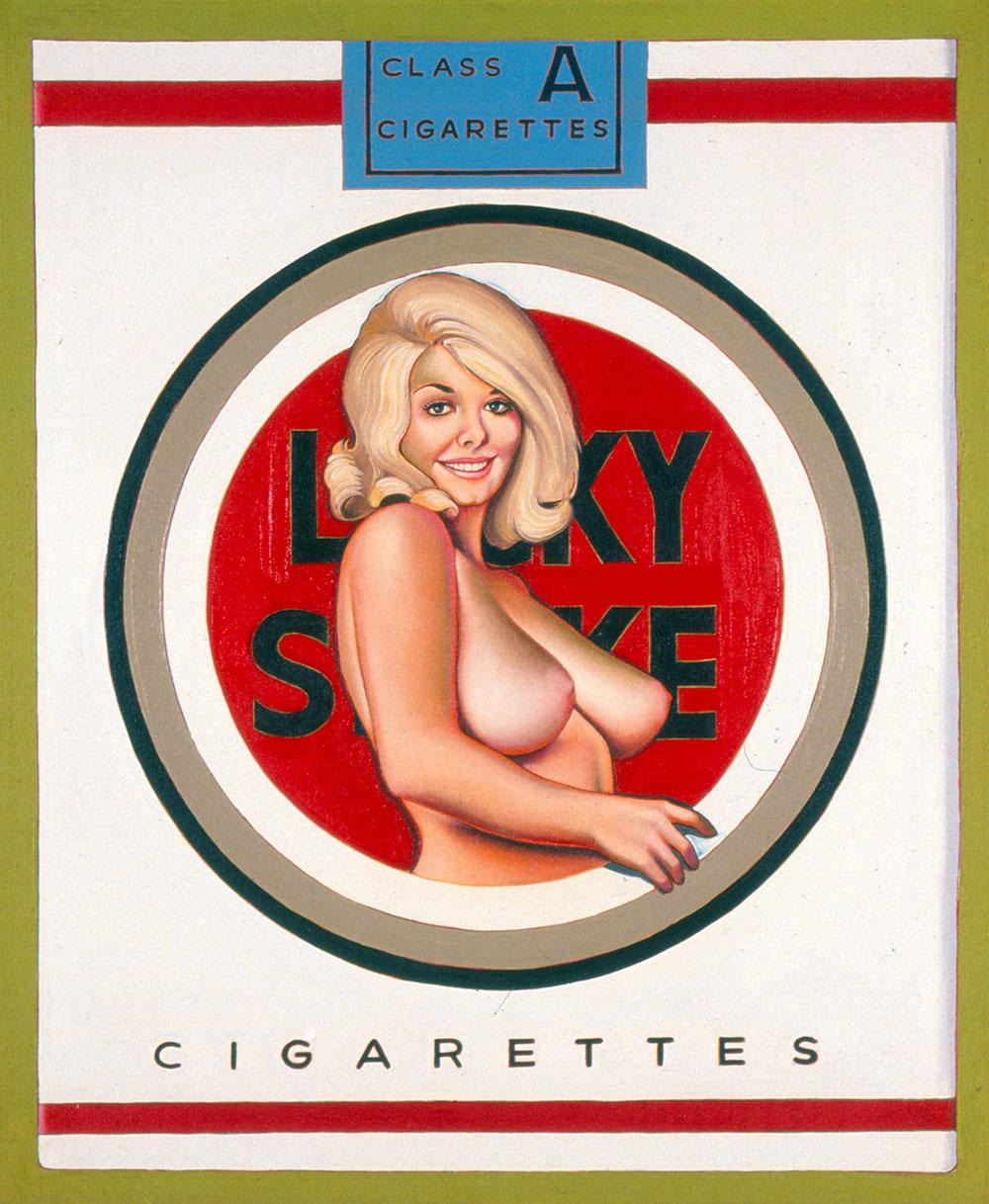 Mel Ramos (ur. 1935 w Sacramento, Kalifornia). Lucky Lulu Blonde, 1965. Olej, płótno, 122 x 101,6 cm