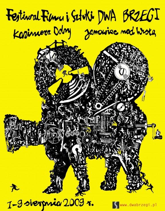 Plakat Festiwalu Filmu i Sztuki Dwa Brzegi 2009