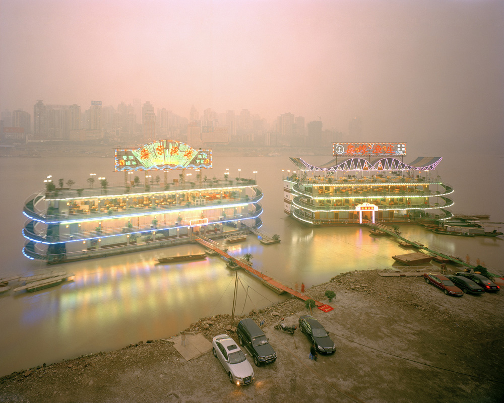 Ferit Kuyas, Restaurant boats jialing river chongqing, 2005