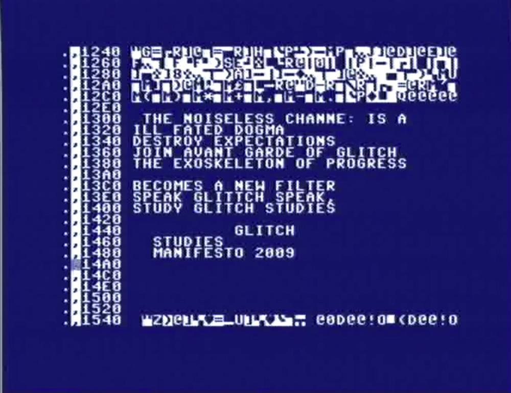 Glitch Studies Manifesto in Commodore