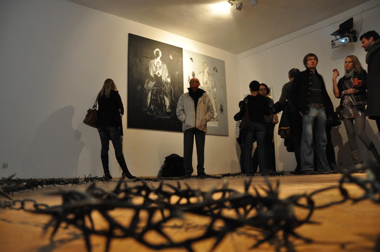 Wernisaż wystawy w Galerii Mieszkanie Gepperta