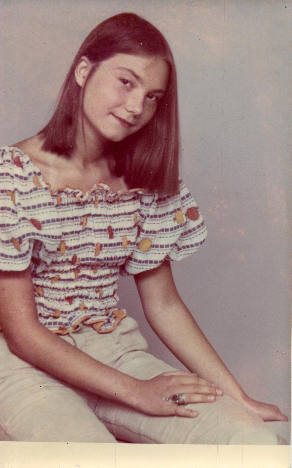 Katarzyna Kozyra w wieku 12 lat