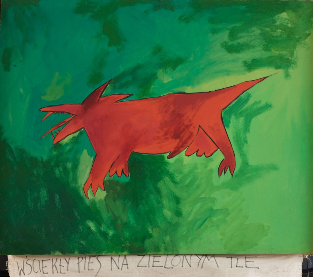 Paweł Kowalewski, Wściekły czerwony pies na zielonym tle, Pokolenie 80', Muzeum Narodowe, Kraków