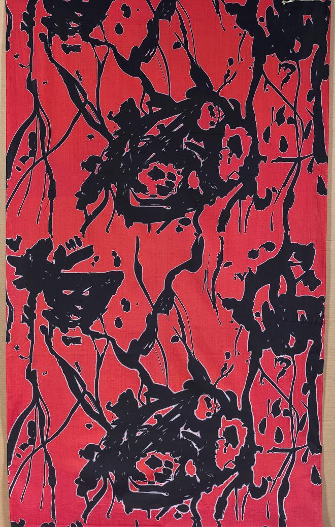Krystyna Policzkowska-Gałecka, tkanina drukowana dekoracyjna do klubo-kawiarni, ok. 1960, Wzr.t.3046 MNW