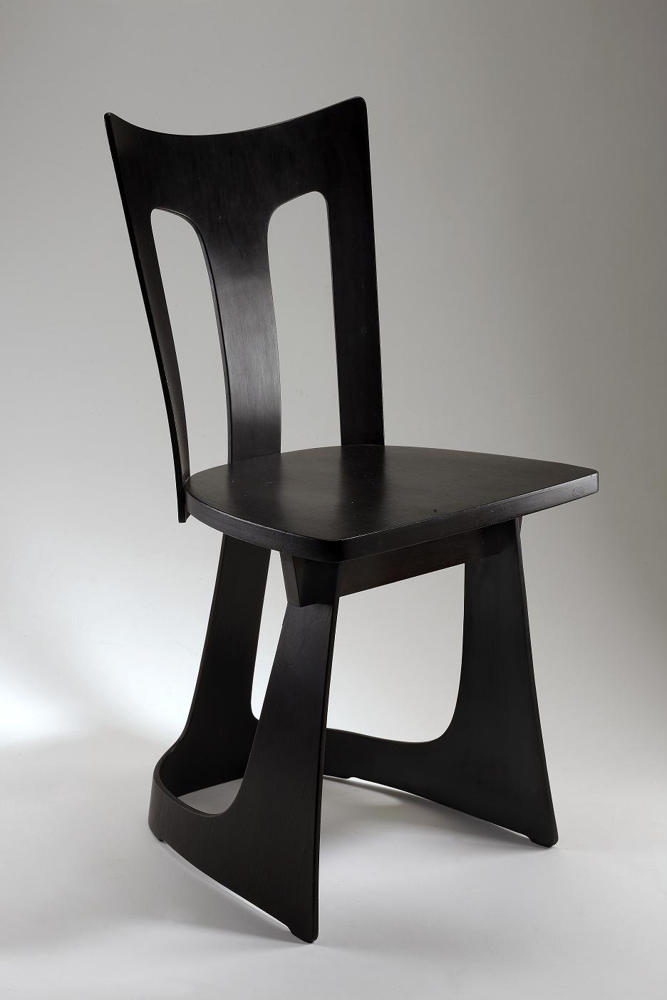 Jan Kurzątkowski, krzesło ze sklejki, 1956, Wzr.d.1485 MNW