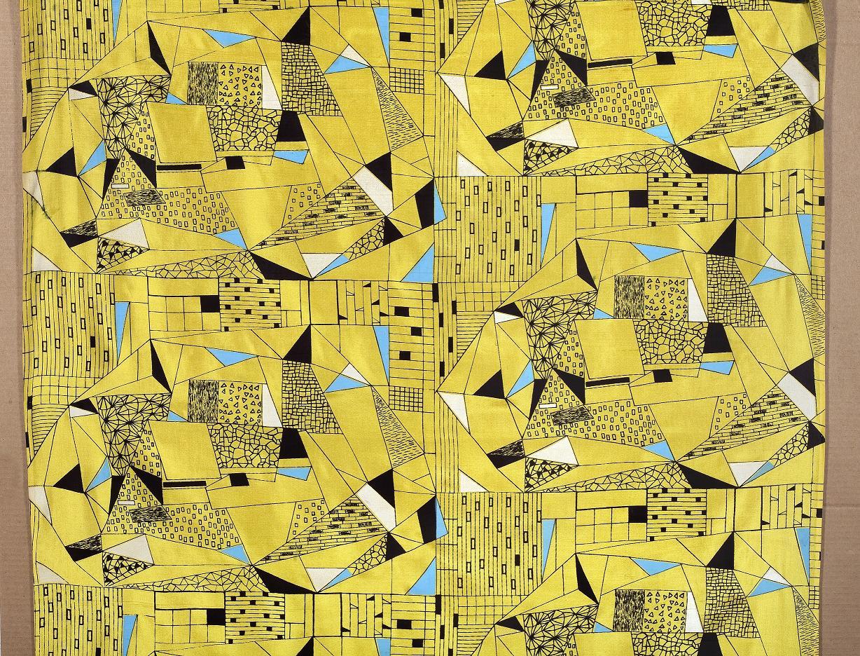 Anna Orzechowska, Instytut Wzornictwa Przemysłowego, tkanina odzieżowa drukowana na jedwabiu, 1956, Wzr.t.759/3 MNW