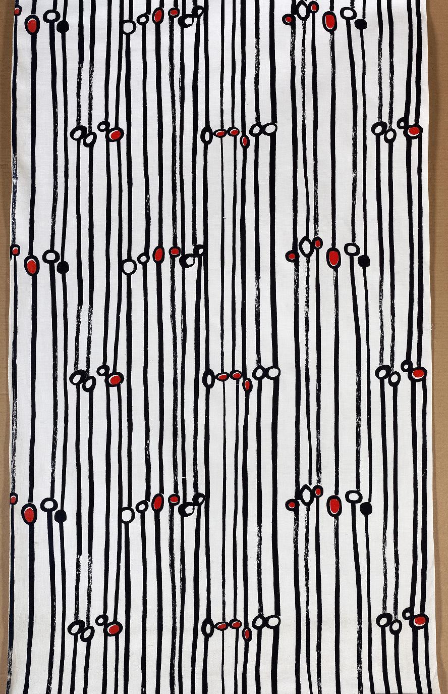 Danuta Teler-Gęsicka, Instytut Wzornictwa Przemysłowego, tkanina drukowana, 1958, Wzr.t.789 MNW