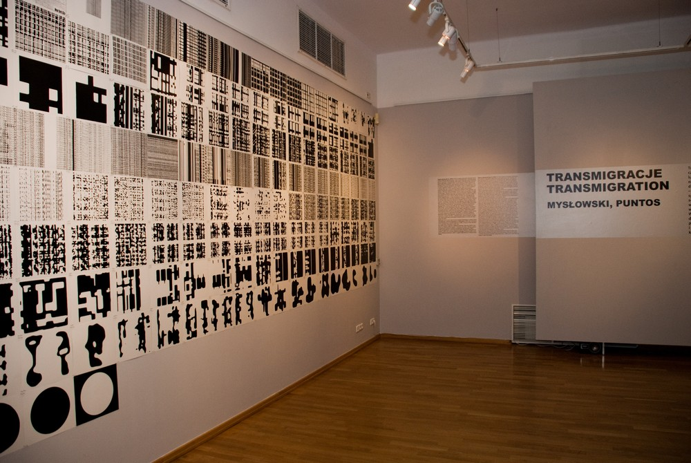 """Wystawa """"Transmigracje. Mysłowski, Puntos"""" w MCK w Krakowie, fot. Zofia Waligóra"""