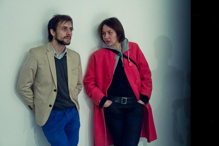 Daniel Muzyczuk i Elżbieta Jabłońska, fot. Ernest Wińczyk, CSW Znaki Czasu w Toruniu