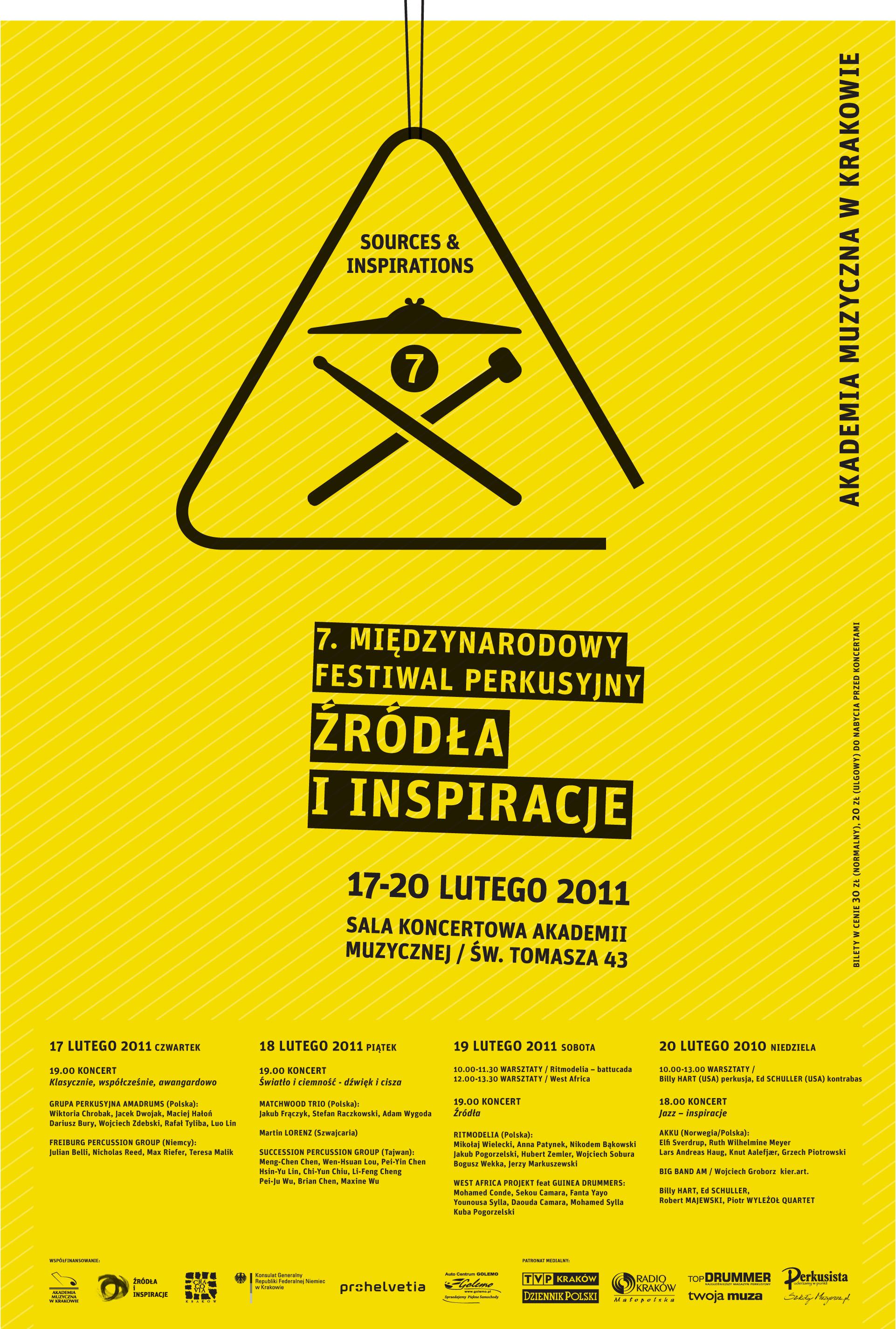 Plakat 7.Festiwalu Perkusyjnego