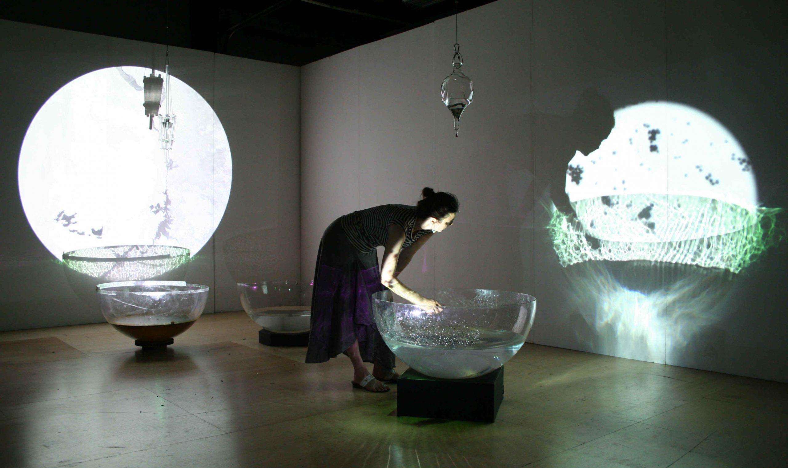 Victoria Vesna, Water Bowls, 2006