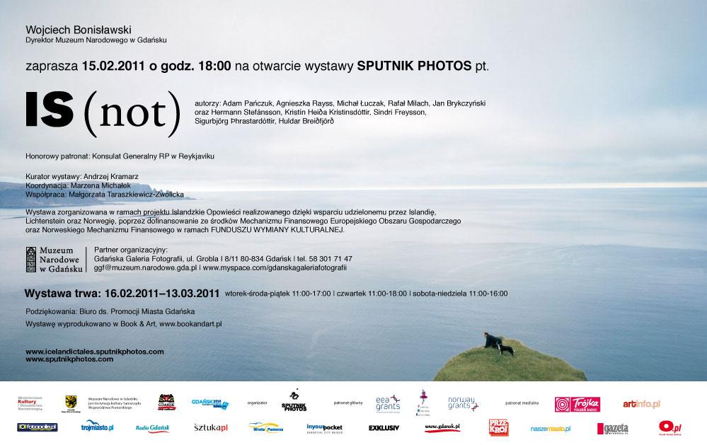 Zaproszenie, wystawa Is (not)