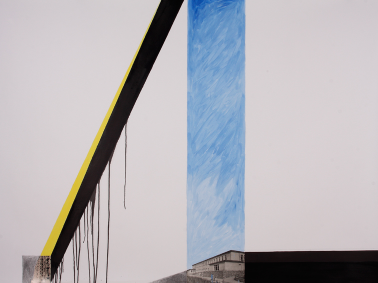Wojciech Łazarczyk, 150x120cm, olej, węgiel, akryl, fotografia na papierze